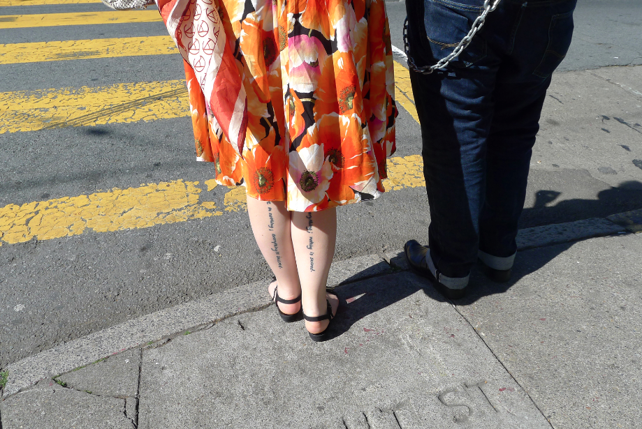 Couple on Haight Street , San Francisco 2013