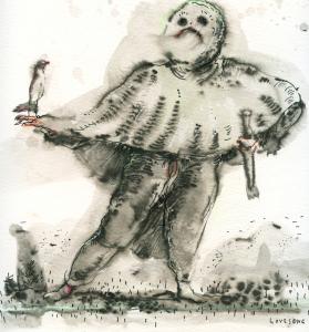 Lovesong, 2014, Tusche auf Papier, 25 x 25 cm