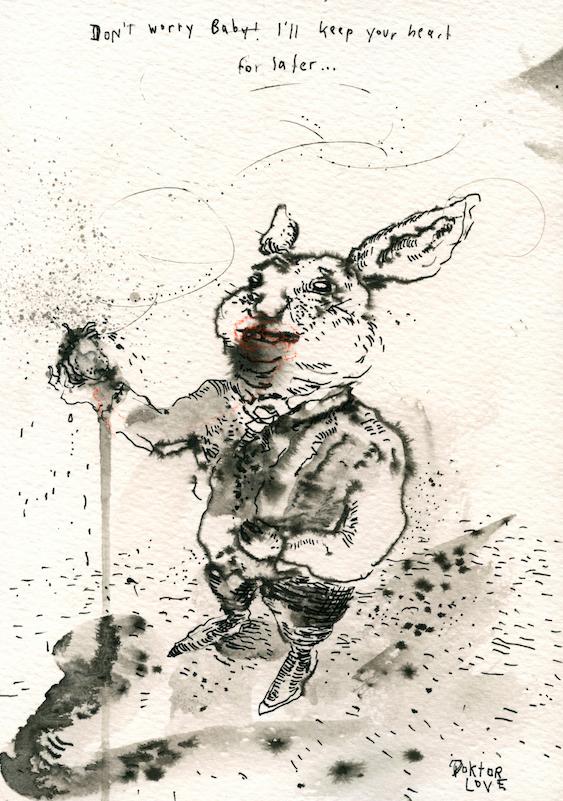 Don´t worry!  2014 Tusche auf Papier,  24 x 17cm