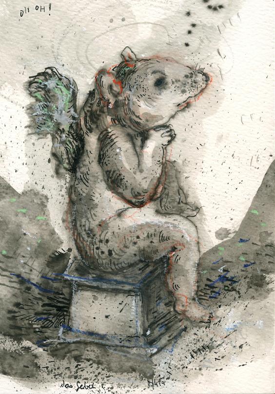OH OH, 2014, 24 x 17 cm, Tusche auf Papier,